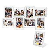 SONGMICS Bilderrahmen Collage für 8 Fotos je 10 x 15 cm (4 x 6) + 1 x einzelner Fotorahmen aus...