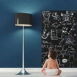 fancy-fix Schwarze Tafelfolie mit Marker-Stift   Blackboard-Sticker   Vinylrolle in 3 Größen  ...