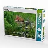 Teichbrücke 1000 Teile Puzzle quer (CALVENDO Natur)