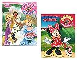 """2x DISNEY Malblock & Sticker Set Din A 4 – """"Prinzessinnen"""" und """"Minnie Mouse"""" und -..."""