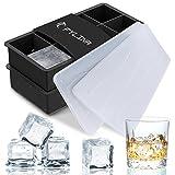 Eiswürfelform 2er Pack Silikon Eiswürfelbehälter mit Deckel, 8-Fach 48mmx48mm Würfel Eiswürfel...