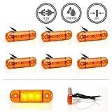 LED-MARTIN® 6er Sparset Umrissleuchte ORANGE 12/24V Begrenzungsleuchte Positionsleuchte dünn
