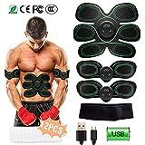 WiMiUS EMS Elektrische Muskelstimulation, USB Wiederaufladbar EMS Trainingsgerät für Arm Bauch...