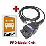 AutoDia K509 mit CarPort-Diagnose Software Pro-Modul CAN USB Diagnose UDS Interface VW AUDI SEAT...