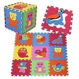 PRINZBERT Tiere Puzzlematte 9 Matten 51-tlg Puzzleteppich kreativ Kinder Spielmatte Spielteppich...