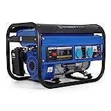 EBERTH 3000 Watt Benzin Stromerzeuger (6,5 PS Benzinmotor, 4-Takt, luftgekühlt, 2x 230 V, 1x 12 V,...