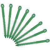 Yahee 100 X Pflanzenbinder Pflanzenhalter aus Kunststoff verstellbar wiederverwendbar 17cm Grün