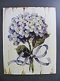 Blechschild / Wandschild Eisen Blume H.25x20cm Gewicht 0,3 kg