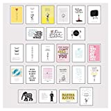 Postkarten Box - Set mit 25 Detailverliebten und Hand designten hochwertigen Postkarten mit...