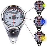 VGEBY Motorrad Digitaltacho LED Kilometerzähler Tachometer Drehzahlmesser Geschwindigkeitsmesser...
