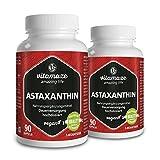 Astaxanthin Kapseln mit 4 mg natürlichem Astaxanthin VEGAN 2x 90 Stück für je 3 Monate...