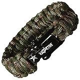 KADACTIVE Paracord Armband Survival Outdoor mit Edelstahlverschluss unverzichtbares Zubehör für...