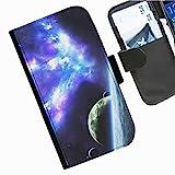 Hairyworm- Universum Seiten Leder-Schützhülle für das Handy Sony Xperia L (C2105, C2104)