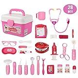Ucradle Arztkoffer für Kinder (28-teilig) - Arzt Spielzeug Kinderarztkoffer Dentist Doktor Set...