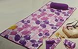 HSN  Strandmatte Strand Decke mit Kissen Sommer Wendematte Beach 80 x 180 Lila mit Blumen *PLT5