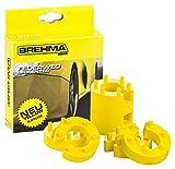 BREHMA Federwegbegrenzer Yellow Stick 13mm 8er Set universell Mit 6- fach Positionierung...
