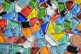 Glas- Mosaiksteine unregelmäßig. (Soft-Glas) bunt 200g ca.140-160St.