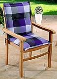 Schwar Textilien Gartenstuhlauflagen Sitzauflagen Auflagen für Niedriglehner Lila Grau UVP 19,95