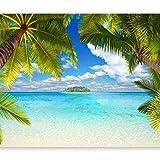 murando - Fototapete Tropische Insel 300x210 cm - Vlies Tapete - Moderne Wanddeko - Design Tapete -...