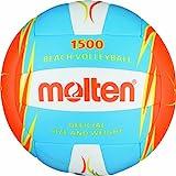 Molten Beachvolleyball V5B1500-CO, Blau/Weiß/Orange, Gr. 5
