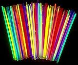 molinoRC | 50 Knicklichter | Leuchtstäbe | Armreifen | Glowstick | Partylichter | Neon rot gelb...