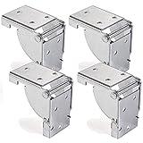 4 x SO-TECH Klapptischbeschlag Klappbeschlag Klappkonsole für Tischbeine 38 x 38 mm