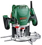 Bosch DIY Oberfräse POF 1200 AE, Nutfräser, Absaugadapter, Gabelschlüssel, Kopierhülse,...