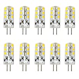Ralbay 10er Pack2.5W G4 LED Lampen, Ersatz für 20W Halogenlampen, Warmweiß, 3000K, 2835 SMD...