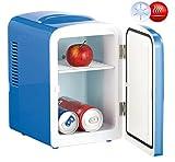 Rosenstein & Söhne Mini Kühlbox: Mini-Kühlschrank mit Warmhalte-Funktion, für 12 & 230 V, 4...
