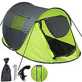 TecTake Wurfzelt Pop-up Zelt Automatikzelt für bis zu 2 Personen 1500mm Wassersäule + Tasche,...