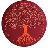 maylow - Yoga mit Herz Stickerei Baum Des Lebens Dinkelspelz Gefüllt-Bezug und Inlett 100%...