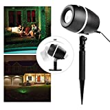 Salcar LED Lichteffekt Dekoration, innen/außen IP65, 3 Farben/Modi Gartenleuchte Projektor, Mauer...