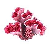 UEETEK Aquarium Deko Korallen Künstliche Pflanze Fisch Tank Dekoration (Rot)