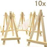 JZK 10 x Mini kleine Holz Tafel Display Staffelei Foto Memo Halter Platzkartenhalter Name Tabelle...