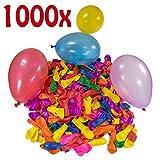 Belmalia 1000 Wasser-Bomben Mega-Pack Bunte Wasserballons in Rot Gelb Lila Blau Orange Pink Grün
