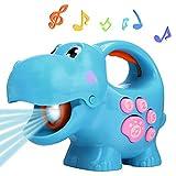 Smibie Kinder Taschenlampen Tier Musik Licht Fackel Lernspielzeug mit Easy-Grip Griff (Blue)