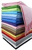 STTS International Baumwolldecke Wohndecke Kuscheldecke Tagesdecke 100% Baumwolle 130 x 170 cm sehr...