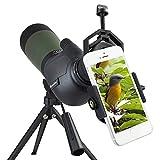 Gosky Spektive Vogelbeobachtung 20–60 x 80 Porro Prism Spektiv – wasserdicht Sport-Spektiv für...