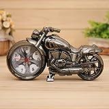 Tolle Motorrad Uhr mit Wecker,Biker Uhr,Chopper silber