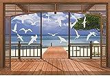 14 Möwen Fenstersticker Milchglasfolie Fensterfolie Dekorfolie A4 46 - 199 mm Motiv - weitere...