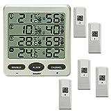 froggit Funk Thermometer FT0073 mit 5 Funksensoren Luftfeuchte LCD Display Min/Max