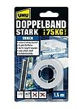 UHU 46855 Doppelband, 75 kg, 1,5 m x 19 mm