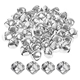 40 Stück Silber Jingle Bells, Borte 25mm neue Jingle Bells Jumbo Jingle Bells Jingle Bell Perlen...