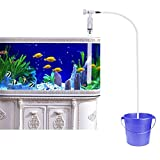UEETEK Aquarium Fisch Tank Kies Sand Reiniger Siphon Pumpe Wasser Ladegerät mit Wasser Flow...
