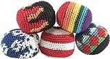 Playtastic Jonglierbälle: Original Footbag im 5er-Pack (Hacky Sack)