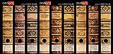 codiarts. Set 9 Stück breite Ordner-Etiketten - Alte Bücher Lederbände Vintage - selbstklebend...