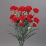 Nelke Nelkenstrauß Strauß Seidenblume 48 cm 42302-02 rot F17