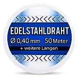 Edelstahldraht V2A - Ø 0,40 mm 50 Meter (0,12 EUR/m) Edelstahl Draht Heizdraht Schneidedraht...
