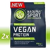 NADURIA SPORT Vegan Protein-Shake Schoko   1kg (2 x 500g)   Mit Erbsen-, Kürbiskern-, Sonnenblumen-...