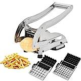 CUGLB Pommes Frites Schneider Edelstahl mit Saugfuß und 2 Extra Scharfen Klingen Für dünne oder...